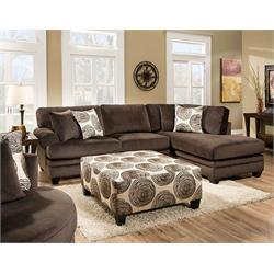 groovy chocolate sectional 8642-2PC Image