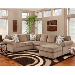 jesse cocoa sectional 3050-3PC-JC Image