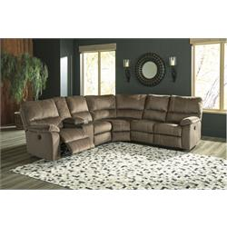 urbino/mocha rec sectional w/ wedge 5720276/77/85 Image