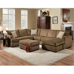 cornell cocoa sectional 6800-CC Image